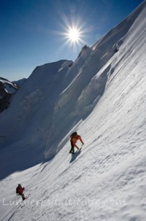 CLIMBING THE NORTH FACE OF OBERGABELHORN, VALAIS, SWITZERLAND