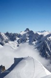 ON THE MIDI-PLAN RIDGE, MASSIF DU MONT-BLANC, HAUTE-SAVOIE, FRANCE