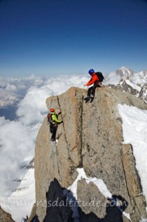 CLIMBING IN THE MASSIF DU MONT-BLANC, HAUTE-SAVOIE, FRANCE