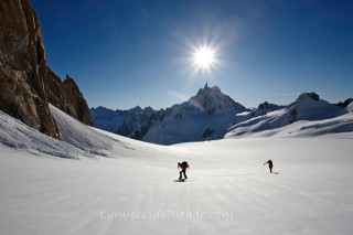 ON THE GLACIER DU GEANT, MASSIF DU MONT-BLANC, HAUTE-SAVOIE, FRANCE