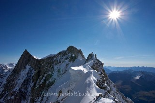 ON THE FAMOUS ROCHEFORT RIDGE, MASSIF DU MONT-BLANC, HAUTE-SAVOIE, FRANCE