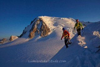 ON THE LAURENCE RIDGE, MASSIF DU MONT-BLANC, HAUTE-SAVOIE, FRANCE