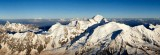 AERIAL VIEW OF MASSIF DU MONT-BLANC, HAUTE SAVOIE, FRANCE