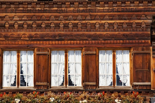 OLD WOOD HOUSE,  GSTAAD, SWITZERLAND