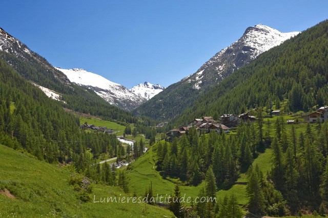 VILLAGE OF SAVARENCHE, VAL D'AOSTE, ITALIE