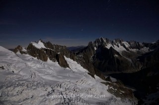 GLACIER DE L'ENVERS DU PLAN BY NIGHT