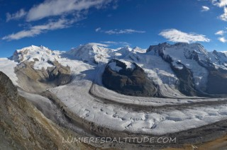 GORNERGRAD GLACIER AND MATTERHORN, ZERMATT. VALAIS, SWITZERLAND