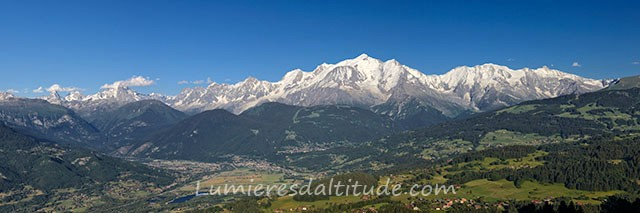 THE MONT-BLANC RANGE AND THE ARVE VALLEY, HAUTE SAVOIE, FRANCE