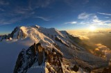 MASSIF DU MONT-BLANC  AT SUNRISE, HAUTE SAVOIE, FRANCE