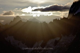 SUNSET ON THE PERIADES, MASSIF DU MONT-BLANC, HAUTE SAVOIE, FRANCE
