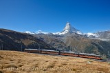 GORNERGRAD TRAIN AND CERVIN, MATTERHORN, VALAIS, SUISSE