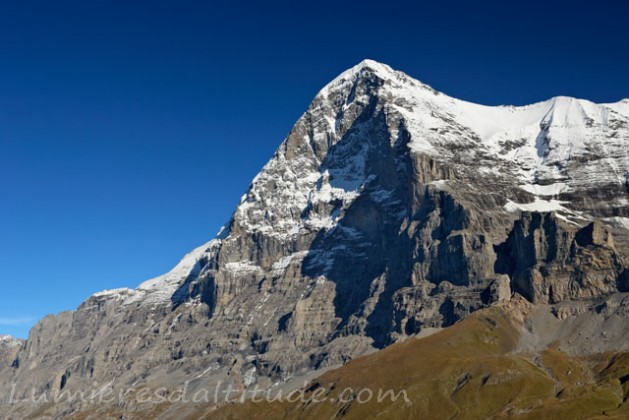 THE NORTH FACE OF EIGER, OBERLAND, SWITZERLAND
