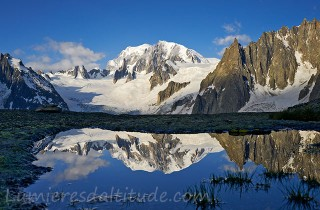 Le Mont-Blanc, reflection, Chamonix, France