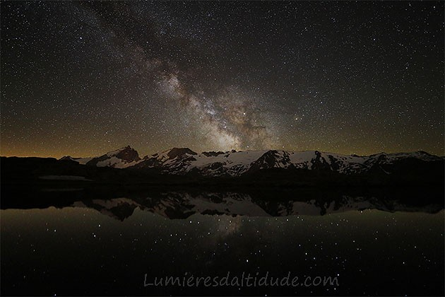 Milky way above Meije