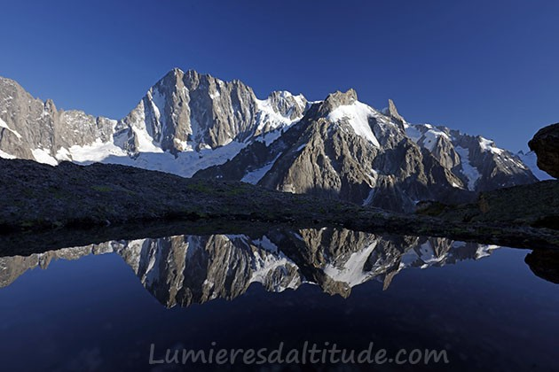 Reflexion on Grandes Jorasses