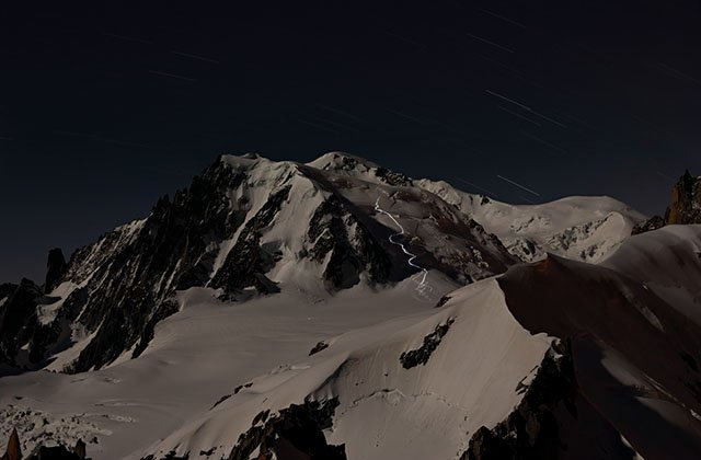 The Mont-blanc on Moonlight