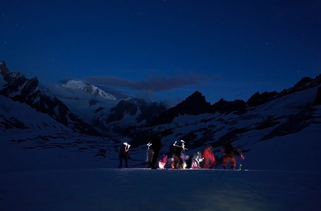 On the Tal�fre glacier