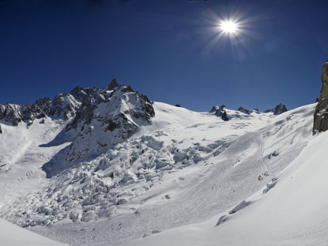 Vallée Blanche, the seracs of the Giant glacier