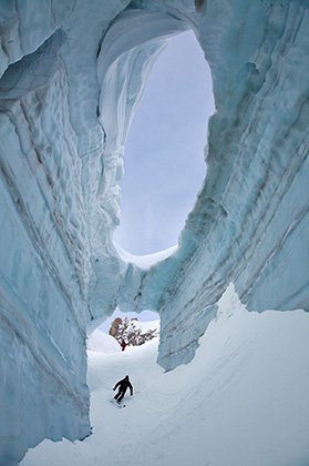 Inside the heart of the glacier...
