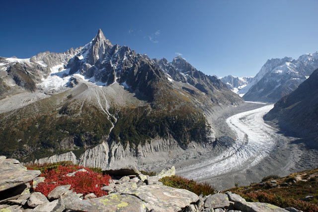 The Dru and  Mer de Glace
